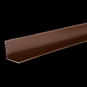 ТЕХНОНИКОЛЬ HAUBERK уголок металлический внутренний, полиэстер, RAL 8017 коричневый
