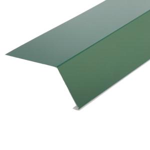 Планка карнизная для гибкой черепицы 96х50х10х2000 0,45 полиэстер RAL 6005 зеленый