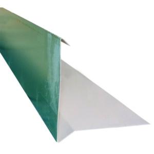 Планка торцевая для гибкой черепицы 85х25х125х15х2000 0,45 полиэстер RAL 6005 зеленый