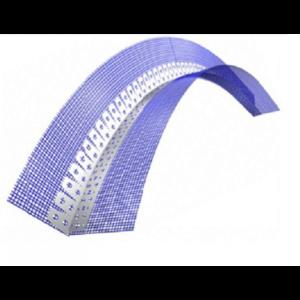 Профиль угловой арочный с армирующей сеткой 100х150х2500 мм ПВХ